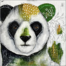 Canvas print  Quiet refuge - abstract panda - Micki Wilde