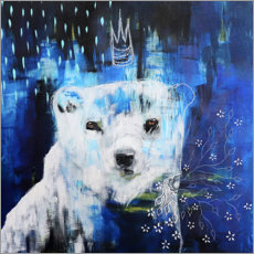 Premium poster Abstract polar bear