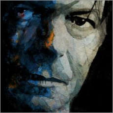Aluminium print  Chameleon - David Bowie - Paul Lovering Arts