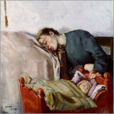 Canvas print  Mother and child (detail) - Christian Krohg