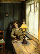 Foam board print  Tired - Christian Krohg
