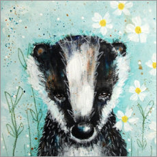 Poster  Sweet little badger - Micki Wilde