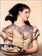 Canvas print  The oyster girl - Karl Gussow
