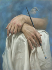 Canvas print  The hands of the artist - Johnny Palacios