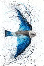 Premium poster Flight of the blue bird