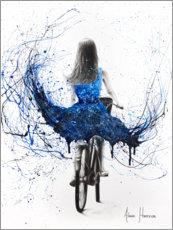 Premium poster Blue Bicycle Ride