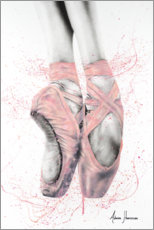 Wood print  Pretty Pointe Ballet Shoes - Ashvin Harrison