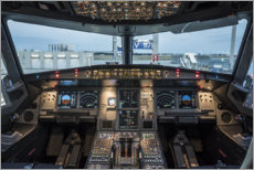 Canvas print  Airbus A320 Cockpit - Ulrich Beinert