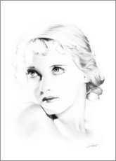 Canvas print  Hollywood diva - Bette Davis - Dirk Richter