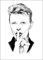 Canvas print  David Bowie portrait minimal - Dirk Richter