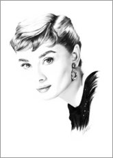 Canvas print  Hollywood diva - Audrey Hepburn - Dirk Richter