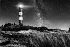 Premium poster  Amrum Lighthouse with Milky Way - Oliver Henze