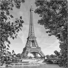 Acrylic print  Idyllic view of the Eiffel Tower - Melanie Viola