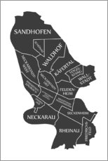Premium poster Modern city map of Mannheim