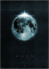 Foam board print  Moon, La Luna - Black Sign Artwork