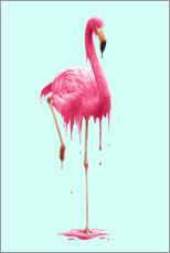 Canvas print  Melting flamingo - Jonas Loose