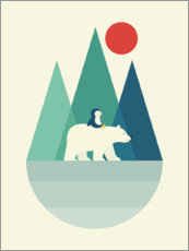 Wood print  Bear You - Andy Westface