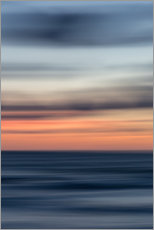 Wood print  Play of colors at the sea - Heiko Mundel