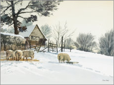Canvas print  Farm in the Snow - Mary Want
