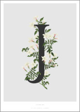 Aluminium print  J is for Jasmine - Charlotte Day