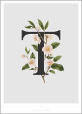 Aluminium print  T is for Tea - Charlotte Day