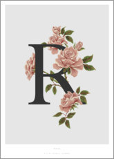 Aluminium print  R is for Rose - Charlotte Day