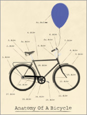 Gallery print  Anatomy of a Bicycle - Wyatt9