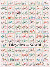 Premium poster  Bicycles of the World - Wyatt9