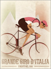 Wall sticker  Vintage Giro Style Downhill Cyclist - Wyatt9