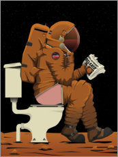Wall Sticker  Mars astronaut toilet - Wyatt9