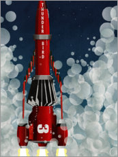 Aluminium print  Thunderbird 3, Space Rocket Launch - Wyatt9