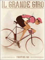 Wood print  Giro D'Italia Mountain Stage - Wyatt9
