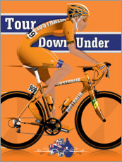 Premium poster Tour Down Under Cycling Race