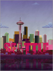 Gallery print  Seattle City Skyline - Wyatt9
