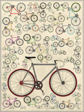 Premium poster  Vintage Fixie Bicycles - Wyatt9