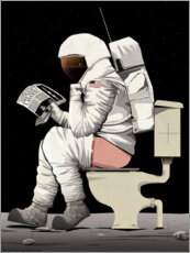 Premium poster Astronaut on the toilet