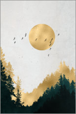 Canvas print  Moon gold - Mia Nissen