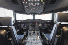Canvas print  Airbus A380 Cockpit - Ulrich Beinert