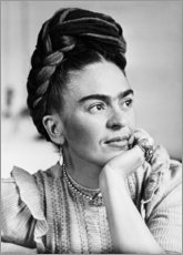 Canvas print  Thoughtful Frida Kahlo - Celebrity Collection