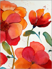 Premium poster  Pink And Orange Floral - Ruth Palmer
