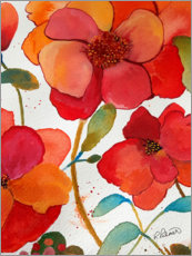 Canvas print  Pink And Orange Floral II - Ruth Palmer