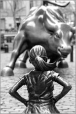 Acrylic glass  Fearless Girl and Wall Street Bull - Art Couture