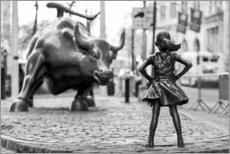 Premium poster  Fearless Girl and Wall Street Bull - Art Couture