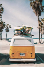 Premium poster  Bulli - Florida feeling with a VW Bus - Art Couture