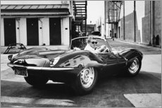 Aluminium print  Steve McQueen in Jaguar - Celebrity Collection