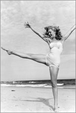 Canvas print  Marilyn on the beach - Celebrity Collection
