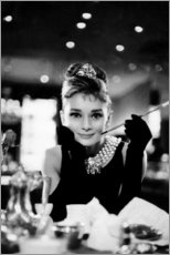 Aluminium print  Audrey Hepburn in Breakfast at Tiffany's - Celebrity Collection