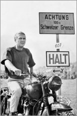 Foam board print  Steve McQueen in The Great Escape - Celebrity Collection