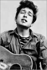 Premium poster Bob Dylan with guitar