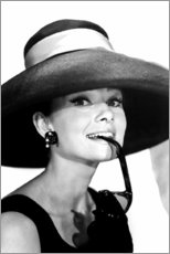 Premium poster  Audrey Hepburn in a summer outfit - Celebrity Collection